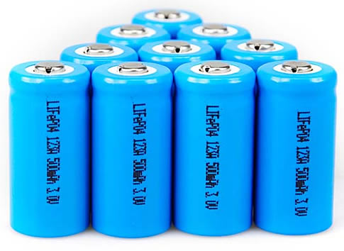 """Nine LiFePO4 Batteries"" by unknown @ http://www.metaefficient.com"