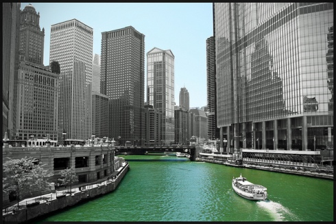 """Chicago River"" by Bert Kaufmann"