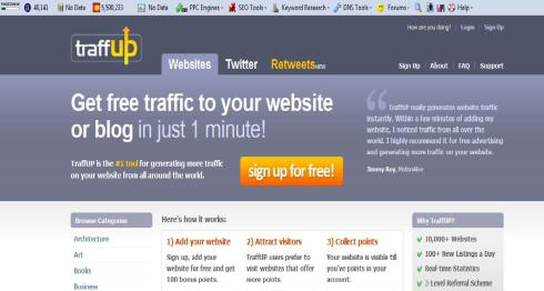 """TraffUP Home Page Screenshot"" by Mike DeHaan"