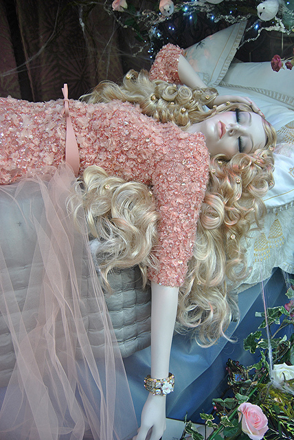 """Beauty Sleep for Sleeping Beauty by Elie Saab at Harrods"" image by Loco Steve (Steve Wilson)"