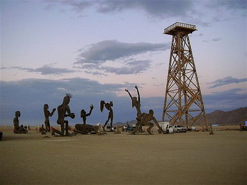 """Worship the Oil Derrick"" by skampy"