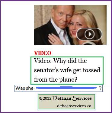 """The Question of the Senator's Wife who was Thrown from an Airplane"" by Mike DeHaan"