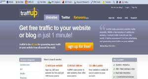 """TraffUP Home Page Screenshot"" image by Mike DeHaan"